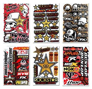 New Rockstar Energy Motorcycle Dirt Mountain Bike Helmet Motogp Racing Stickers