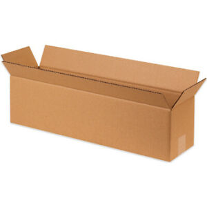 36 X 8 X 8 Long Corrugated Boxes Ect 32 Brown Shipping moving Boxes 25 bundle