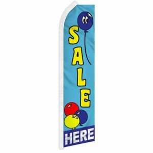 sale Here Advertising Super Flag Swooper Banner Business Sign Balloons