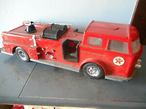 Vintage 1950 s Buddy l Texaco Fire Chief Truck Parts Or Repair