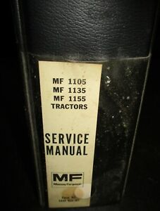Massey Ferguson Mf 1105 1135 And 1155 Tractor Service Manual