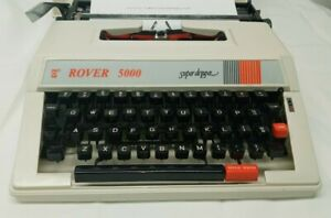 Rover 5000 Super Deluxe Manual Typewriter With Case