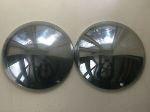 Vintage Chevy Chevrolet Dog Dish Baby Moon Hubcaps Pair Truck Center Caps