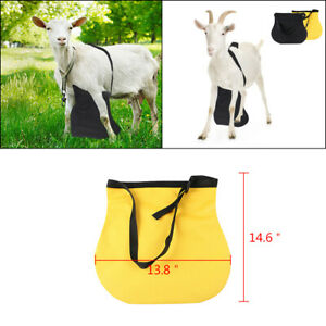 Anti Mating Anti Breeding Apron with Harness For Goats Sheep Small size Yellow