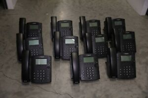 Lot Of 11 Office Phone System Polycom Vvx 300 6 Line Voip Display Ab641