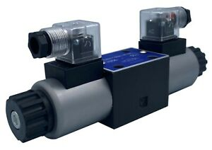 Hydraulic Directional Control Solenoid Valve D03 ng6 21gpm Ac Or Dc 3 Position