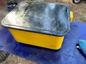 3 5 Gal Steel Cabinet Portable Parts Washer Electric Pump Yellow Bench Top
