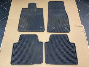 Cadillac Cts Sedan Oem All weather Rubber Floor Mats Black Preowned 4 Pcs