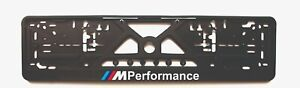 2x European License Number Plate Frame Holder Surround For Bmw M Performance