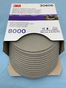 3m Trizact Hookit Foam Abrasive Discs Perfect it 1 step 6 In 8000 Grit Box Of 15