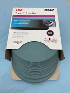 3m Trizact Hookit Foam Disc 6 Inch 5000 Grit 30662 box Of 15 Discs