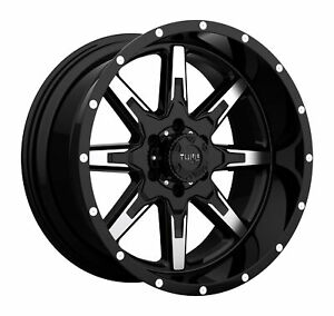 Tuff T15 22x10 6x139 70 Et 19 106 0 Gloss Black W Machined Face Wheel rim
