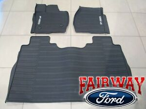 2021 F 150 Oem Ford Molded Floor Mat Set 3 pc Crew Cab Without Under Seat Stow