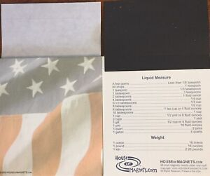 50 Business Card Magnetic Display With Flag Paper Pad
