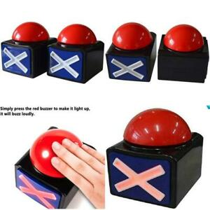 Game Answer Buzzer 2 Pcs Alarm Sound Play Button With Light Trivia Quiz Got For