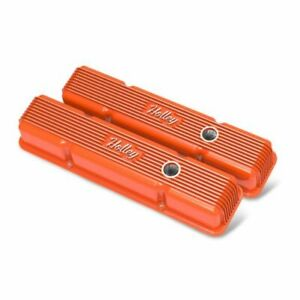 Holley 241 239 Vintage Series Finned Valve Cover For Perimeter Bolt Sb Chevy New Fits Corvette