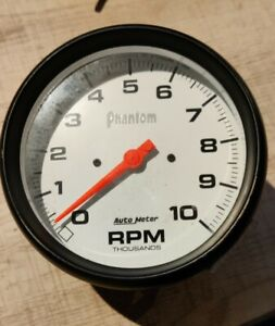 Pre owned Autometer 5898 Phantom 5 In dash Tachometer 0 10 000 Rpm