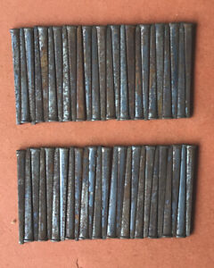 50 Vintage 21 4 square Cut Nails Rusted Nos With 3 16 x1 8 Head X1 16 sq point