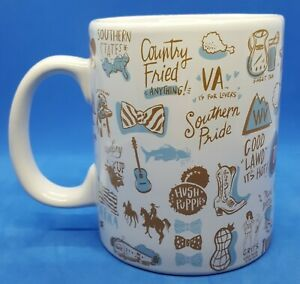 Country Southern Pride Mug primitives By Kathy Large Holds 2 Cups 16 Oz Euc
