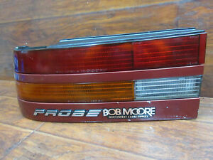 Ford Probe 1989 Only Left Driver Tail Light With Maroon Trim