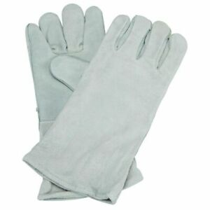 New 14 Gray Leather Cowhide Welding Gloves Protect Welder Hands