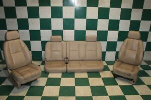 07 09 Gm Truck Ext Cab A95 Tan Leather Power Buckets Backseat Bench Seat Set Oem