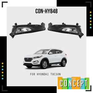For 2016 2018 Hyundai Tucson Fog Lights Lamps And Assembly Set