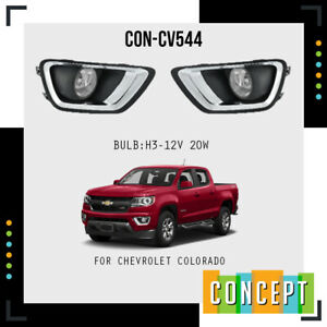 2016 2020 Chevrolet Colorado Complete Fog Lamp Lights With Bezels