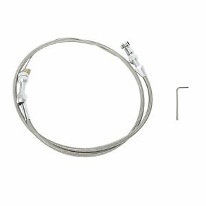 For Ls1 Chevy 36 Stainless Steel Braided Throttle Cable 4 8 5 3 5 7 6 0 Engine
