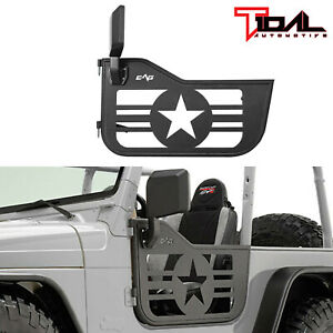 Tidal Military Tube Door Left Right Steel With Mirror Pair Fit For 97 06 Jeep Tj