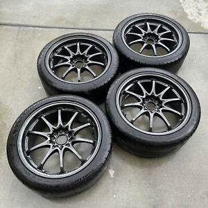 18x8 5 30 5x114 3 Rays Volk Ce28n Og Diamond Black Wheels Rims Rare Discontinued