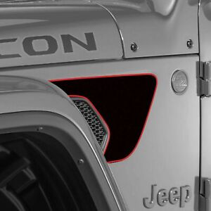 Vent Fender Wrap Graphic Sticker Decal For Jeep Wrangler Jl 2018 2020 Black Red