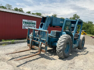 2001 Gradall 534d 4x4 6000lb 34ft Telescopic Forklift Only 5300hrs Clean Unit