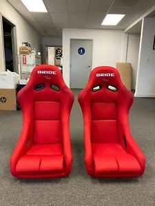 Bride Vios 3 Iii Red Seats Low Max Jdm Bucket Drift Race Racing Seat