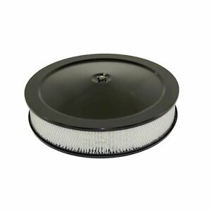 14 Muscle Car Style Black Steel Air Cleaner Kit With Flat Base