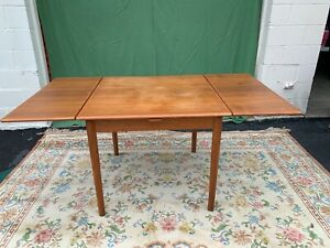 Mid Century Danish Modern Am28 Teak Extendable Draw Leaf Dining Table Denmark