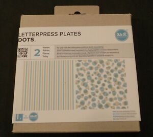 We R Memory Keepers Letterpress Plates 2 Piece Set Dots