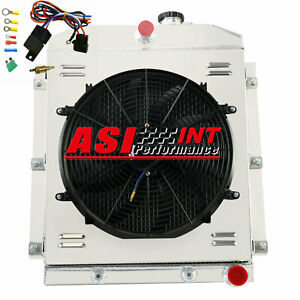 4 Row Radiator shroud Fan relay For 1947 1954 Chevy Truck 3100 3600 3700 3800 I6