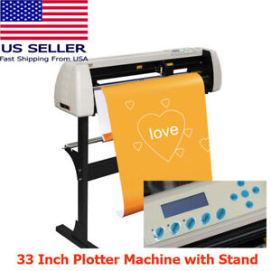 Brand New 850mm 33 Sign Vinyl Cutter Cutting Plotter Machine Stand us Stock