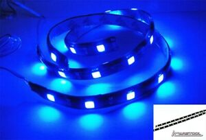 2x Blue High Power 12 Smd Led Strip Interior Gauge Stereo Trunk Light For Audi