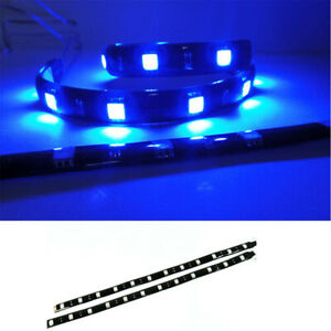 2x Blue High Power 12 Smd Led Strip Gauge Stereo Trunk Light For Mercedes Benz