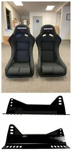 Bride Vios 3 Iii Black Seats Low Max Jdm Bucket Drift Racing Seat Long Sidemount
