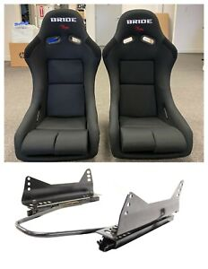 Bride Vios 3 Iii Black Seats Low Max Jdm Bucket Racing Long Sidemount Sliders