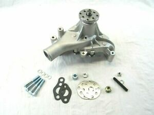 Small Block Chevy High Volume Aluminum Long Water Pump Satin Finish Sbc 350 383