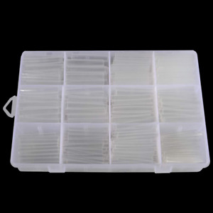 Clear Heat Shrink Tubing Kit Tubes Wire Wrap Ratio 2 1 Electrical Sleeve 625 Pcs