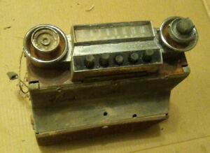 51 1951 Ford Car Radio For Parts Top Bottom Cover Knobs Cup Dash Bezels Button