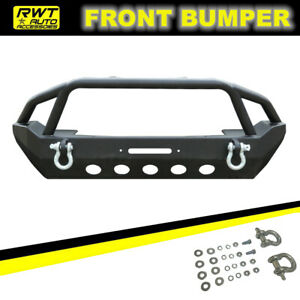 Textured Front Bumper Fit 2007 2018 Jeep Wrangler Jk Rock Crawler W Winch Plate