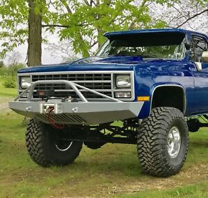 Chevy K5 Blazer 1981 1991 Front Winch Bumper Brush Guard Not Included Usa