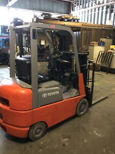 Toyota Gasoline Forklift 7 Series 4y Motor 3000lb Capacity 80 Lift Height