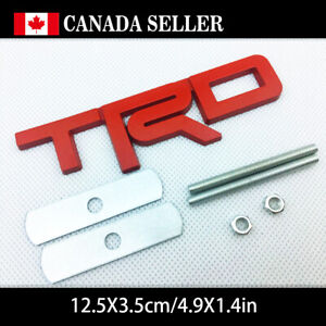 3colors Metal Trd Badge Emblem Grilles Car Decal Stickers Toyota 4runner Hilux